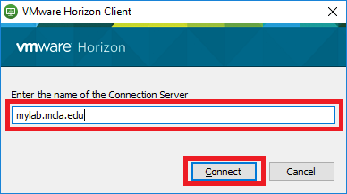 Install VMware Horizon Client - TechHelp - MCLA's Technology