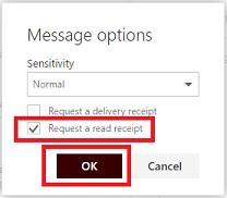 Read Receipts in Outlook Web App - TechHelp - MCLA's Technology Help